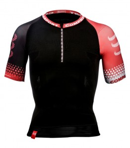 Koszulka biegowa COMPRESSPORT - Trail Shirt BLACK
